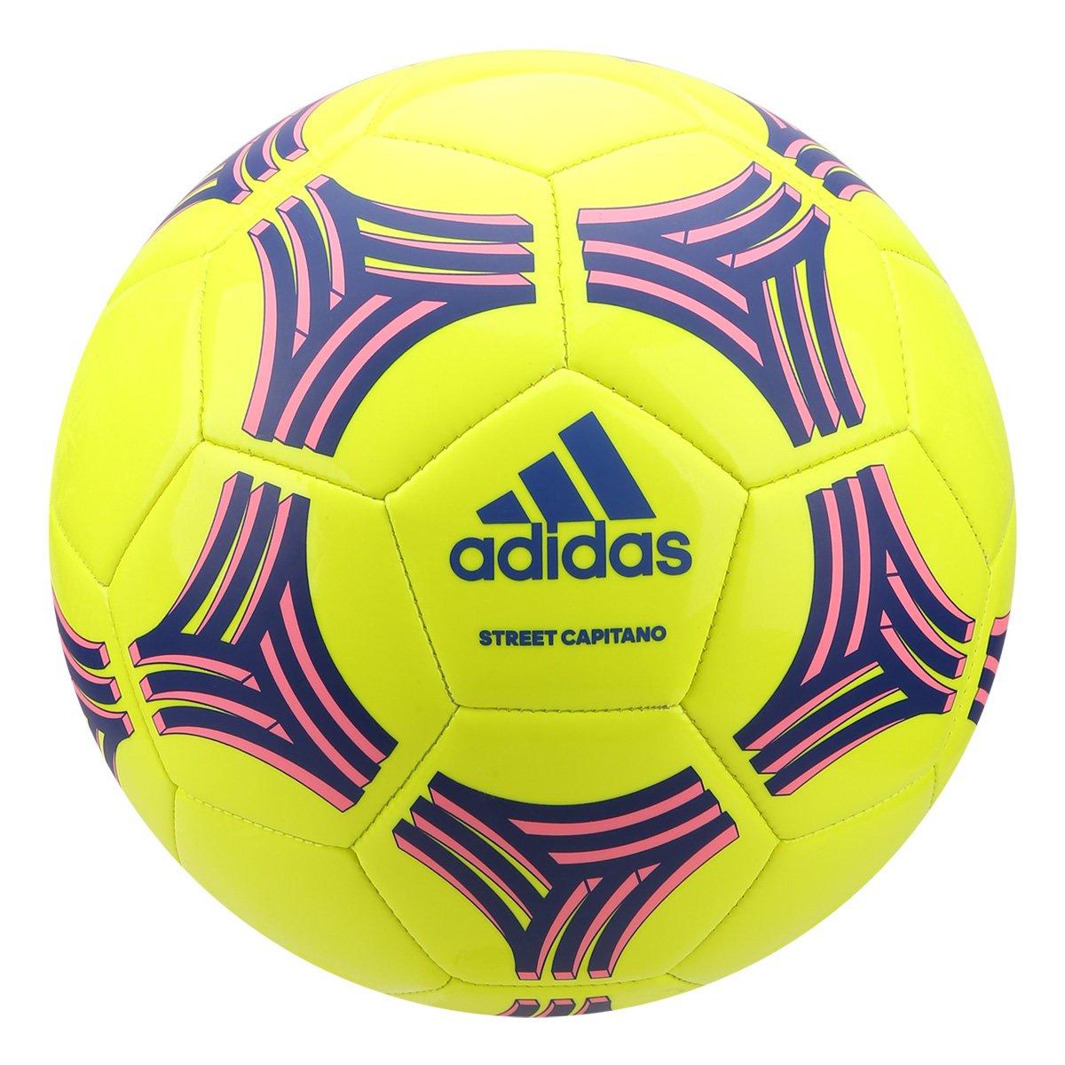 Bola de Futebol Campo Adidas Street Capitano Tango Glider - Amarelo e Azul