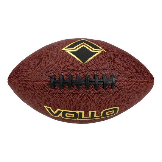 Bola De Futebol Americano Vollo 9 - Marrom