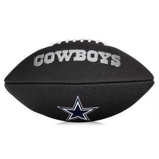 Bola de Futebol Americano Wilson NFL Team Jr Dallas Cowboys Edition Black