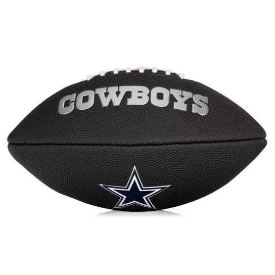 Bola de Futebol Americano Wilson NFL Team Jr Dallas Cowboys Edition Black - Preto