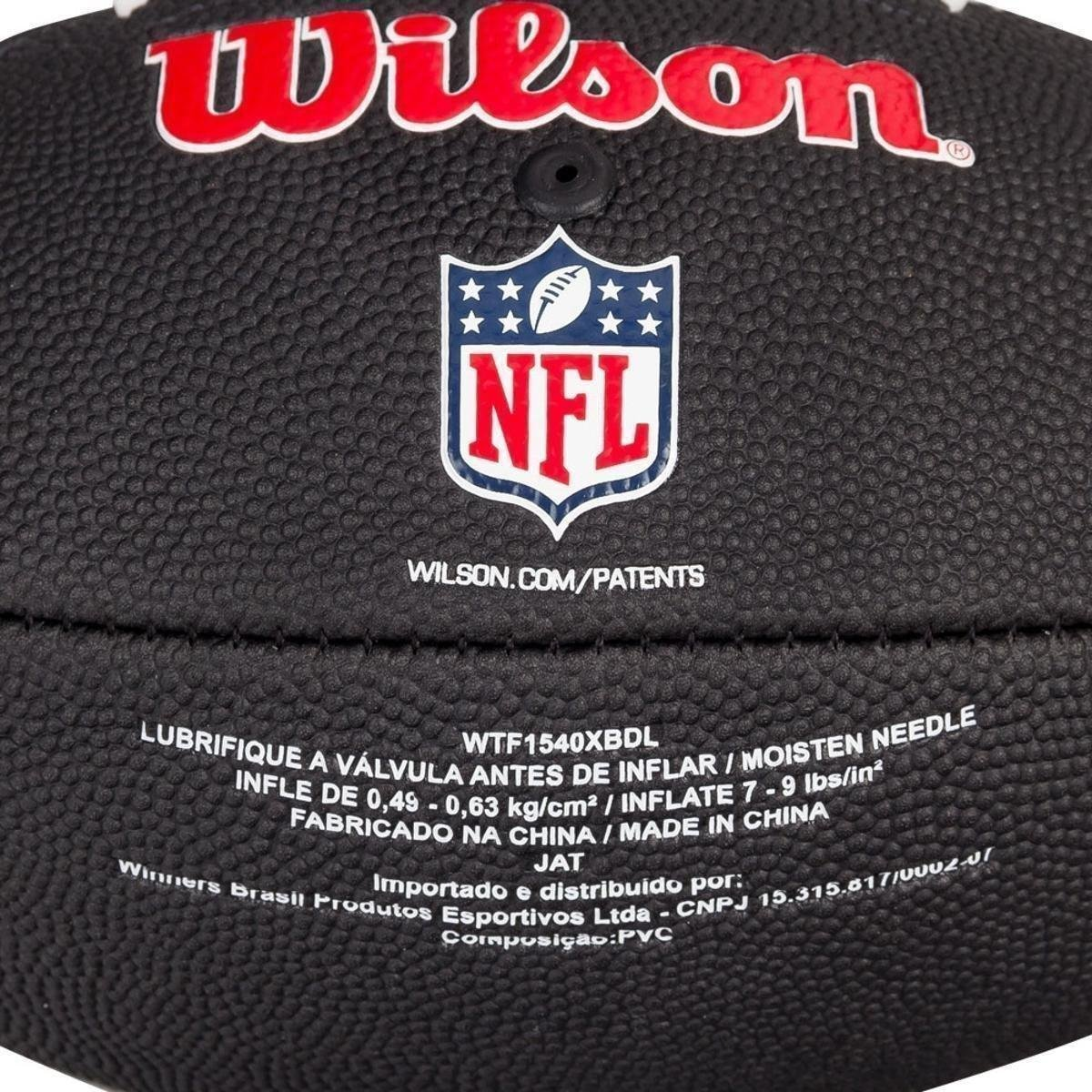 ... Bola de Futebol Americano Wilson NFL Team Jr Dallas Cowboys Edition  Black 3acbfb89771