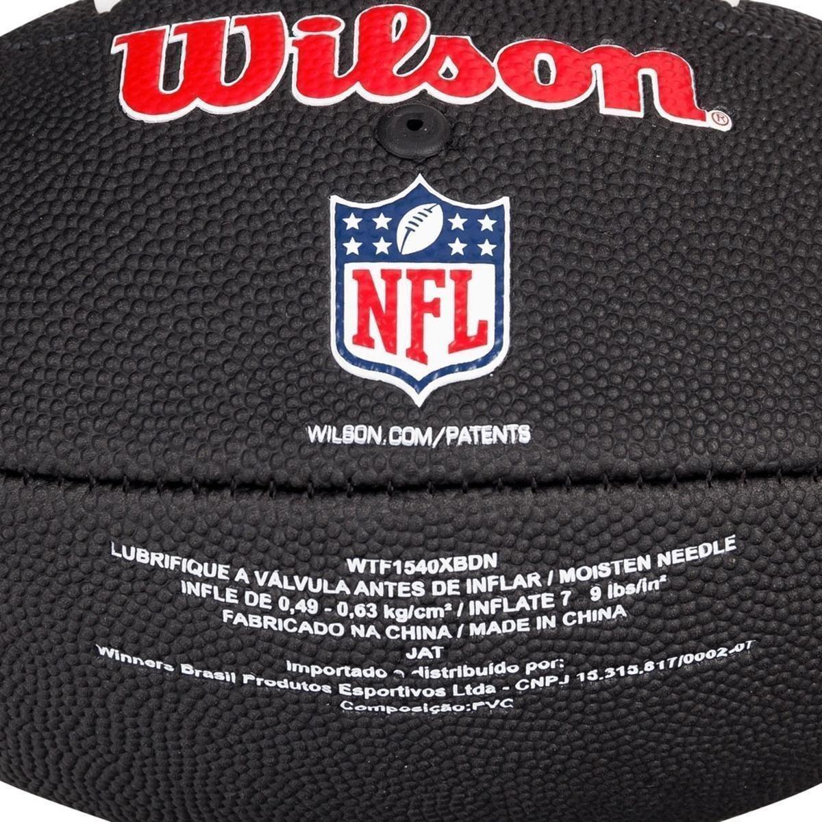 888069beb6 ... Bola de Futebol Americano Wilson NFL Team Jr Denver Broncos Edition  Black