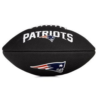 Bola de Futebol Americano Wilson NFL Team Jr New England Patriots Edition Black