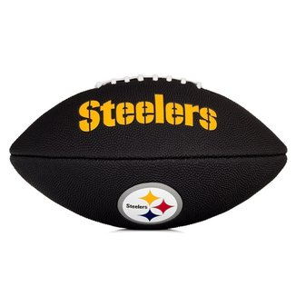 Bola de Futebol Americano Wilson NFL Team Jr Pittsburgh Steelers Edition Black