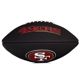 Bola de Futebol Americano Wilson NFL Team Logo Jr San Francisco - Edition Black