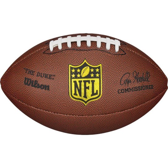 Bola de Futebol Americano WILSON NFL THE DUKE PRO OFICIAL - Marrom
