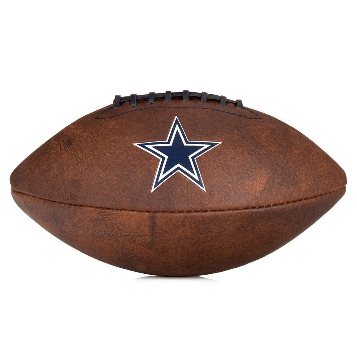 Bola de Futebol Americano Wilson Throwback NFL Jr. Dallas Cowboys ... c6219ccf078