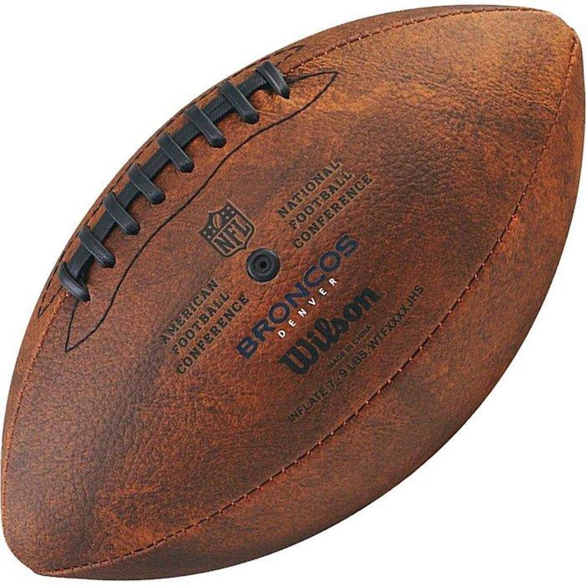 ... Bola de Futebol Americano Wilson Throwback NFL Jr. Denver Broncos ... a32c7901f3643