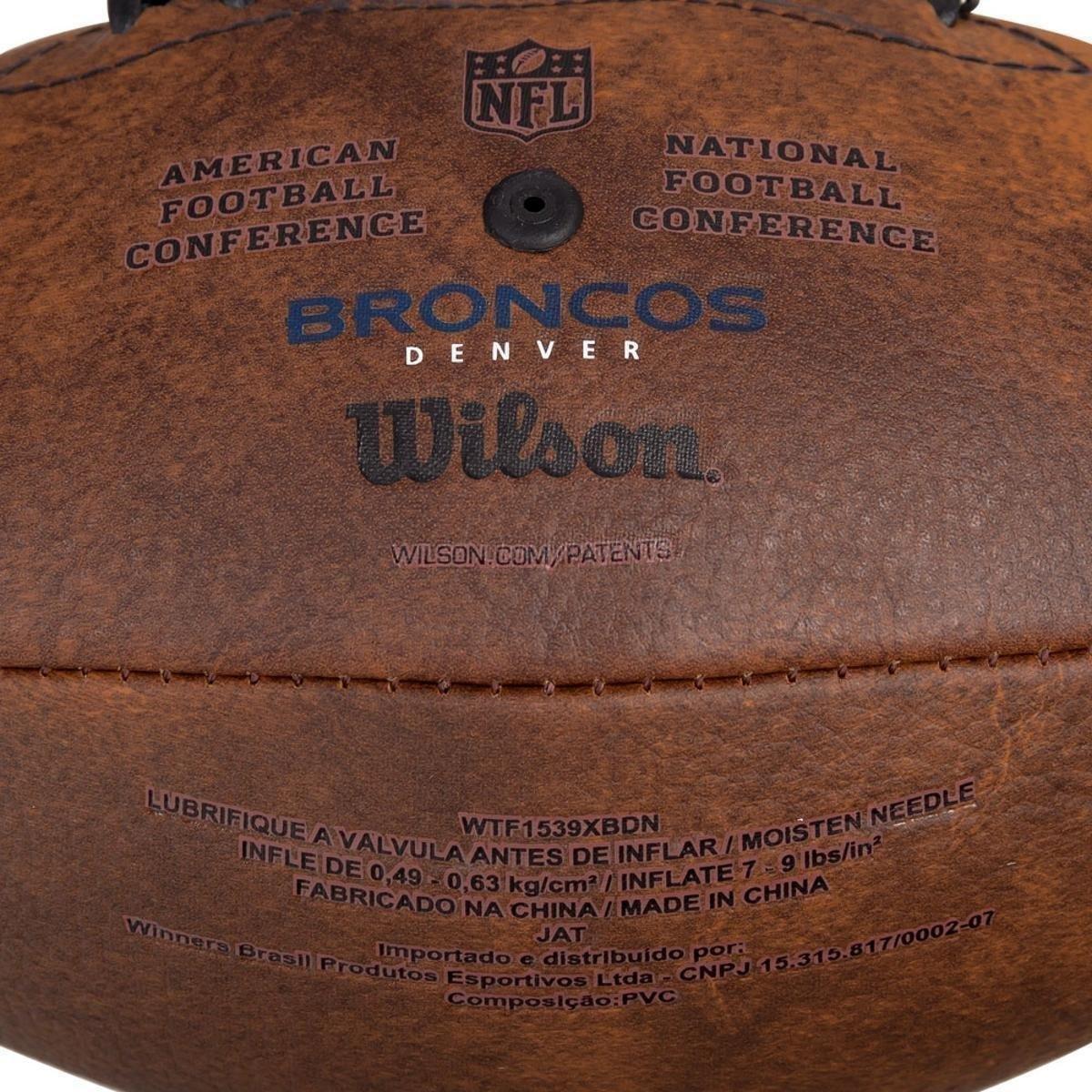 d6237c10a2 Bola de Futebol Americano Wilson Throwback NFL Jr. Denver Broncos ...