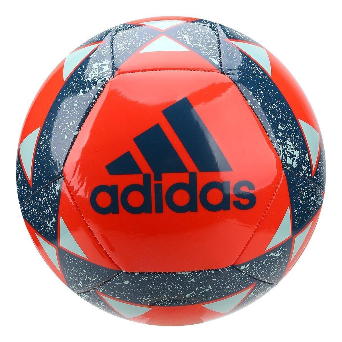 Bola de Futebol Campo Adidas Starlancer V - Laranja e Azul - Compre ... d48f220d0866d