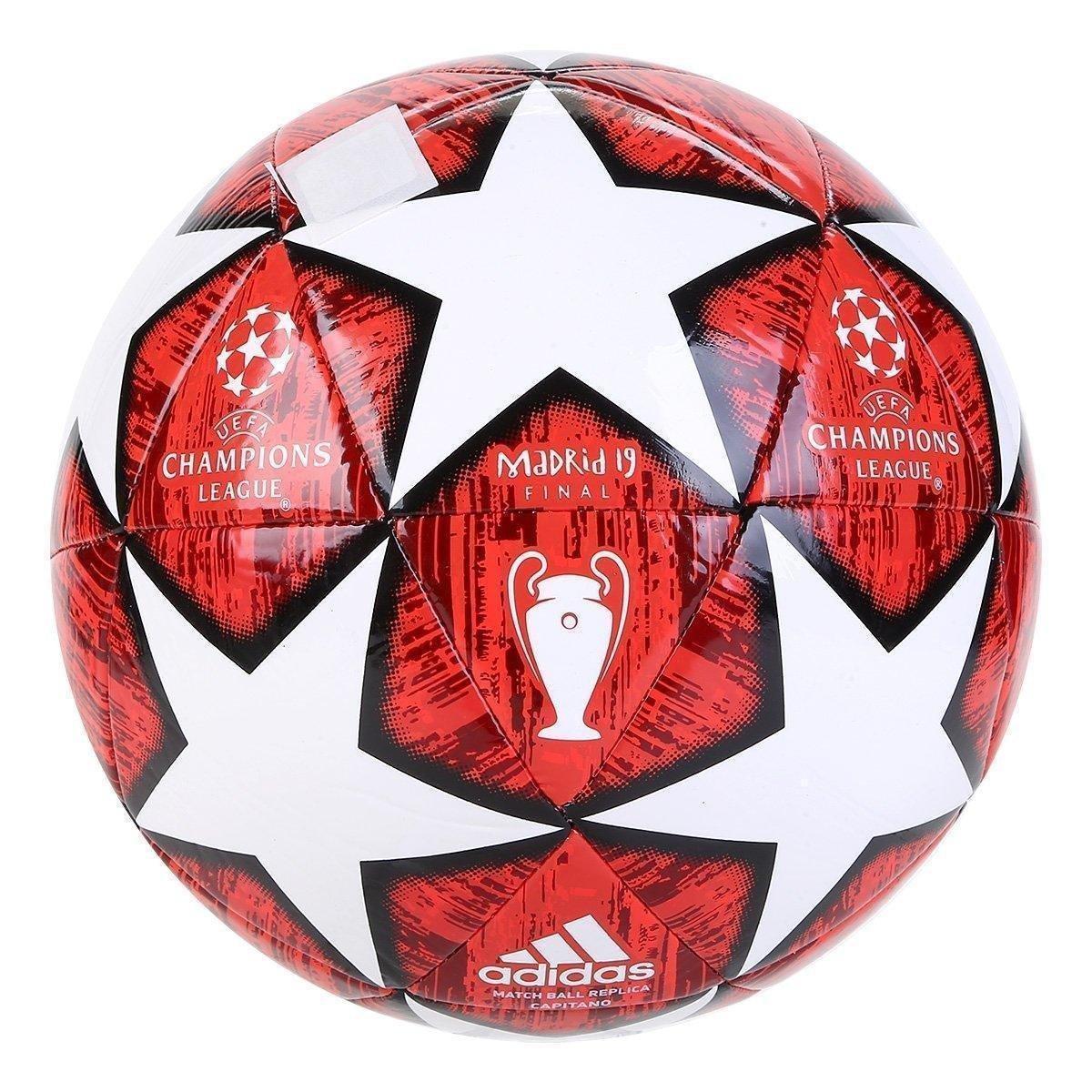 f09a67d440a83 Bola de Futebol Campo Adidas Uefa Champions League Finale 19 Match Ball  Replique Capitano - Branco e Vermelho - Compre Agora