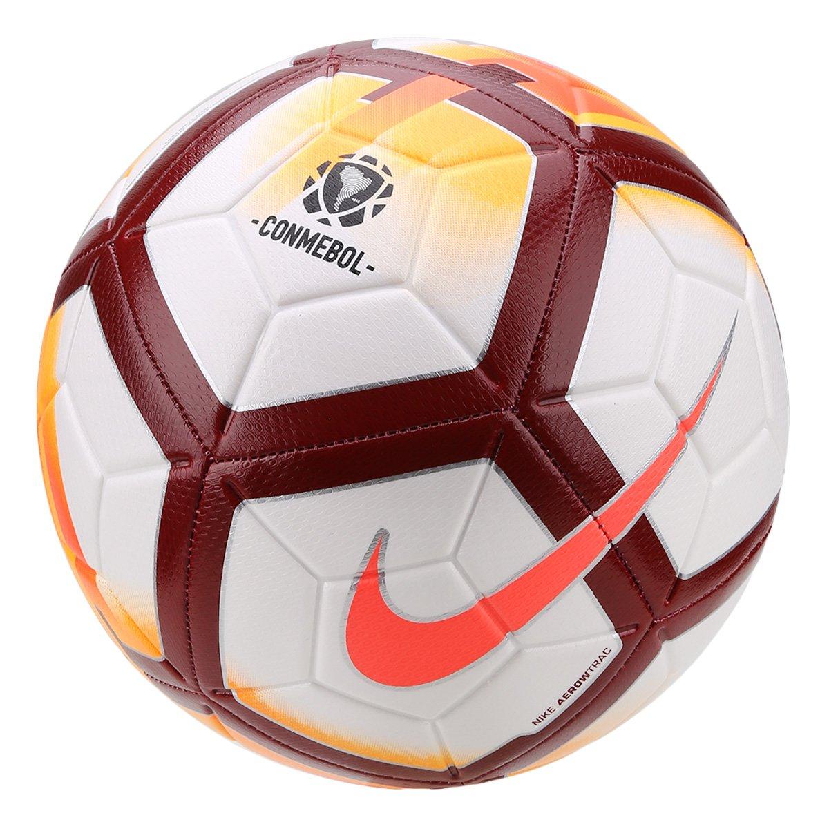 5943f667d5 Bola de Futebol Campo Nike CONMEBOL CSF Strike - Branco e Laranja ...