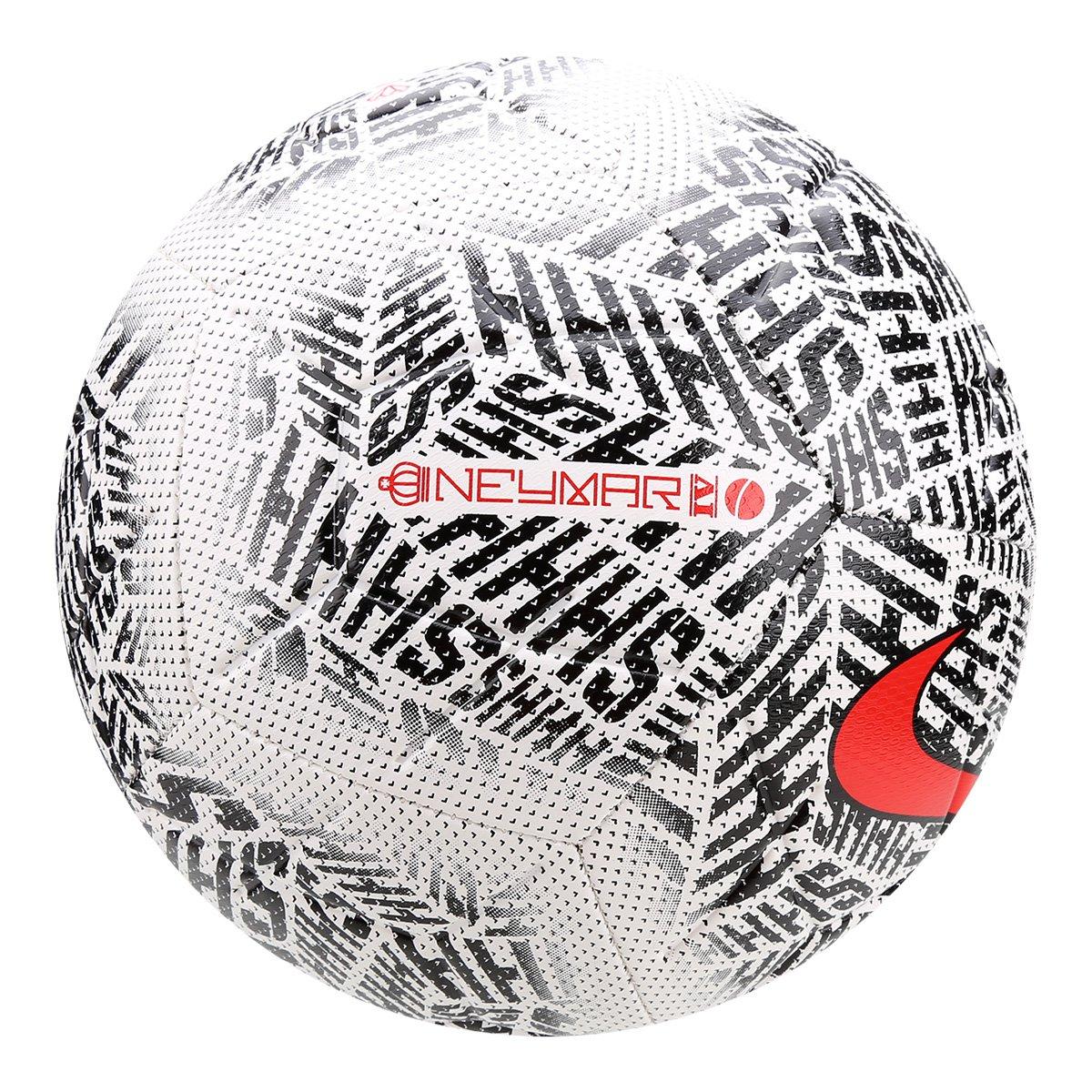 Bola de Futebol Campo Nike Neymar Strike - Branco e Preto - Compre ... c9ea1191930b8