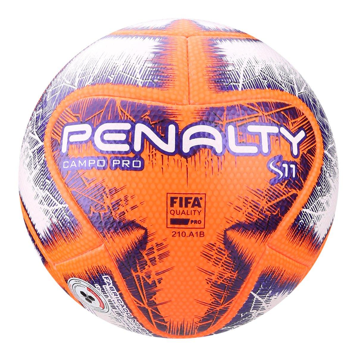 90311d62a872d Bola de Futebol Campo Penalty S11 Pró IX - Branco e Laranja - Compre Agora