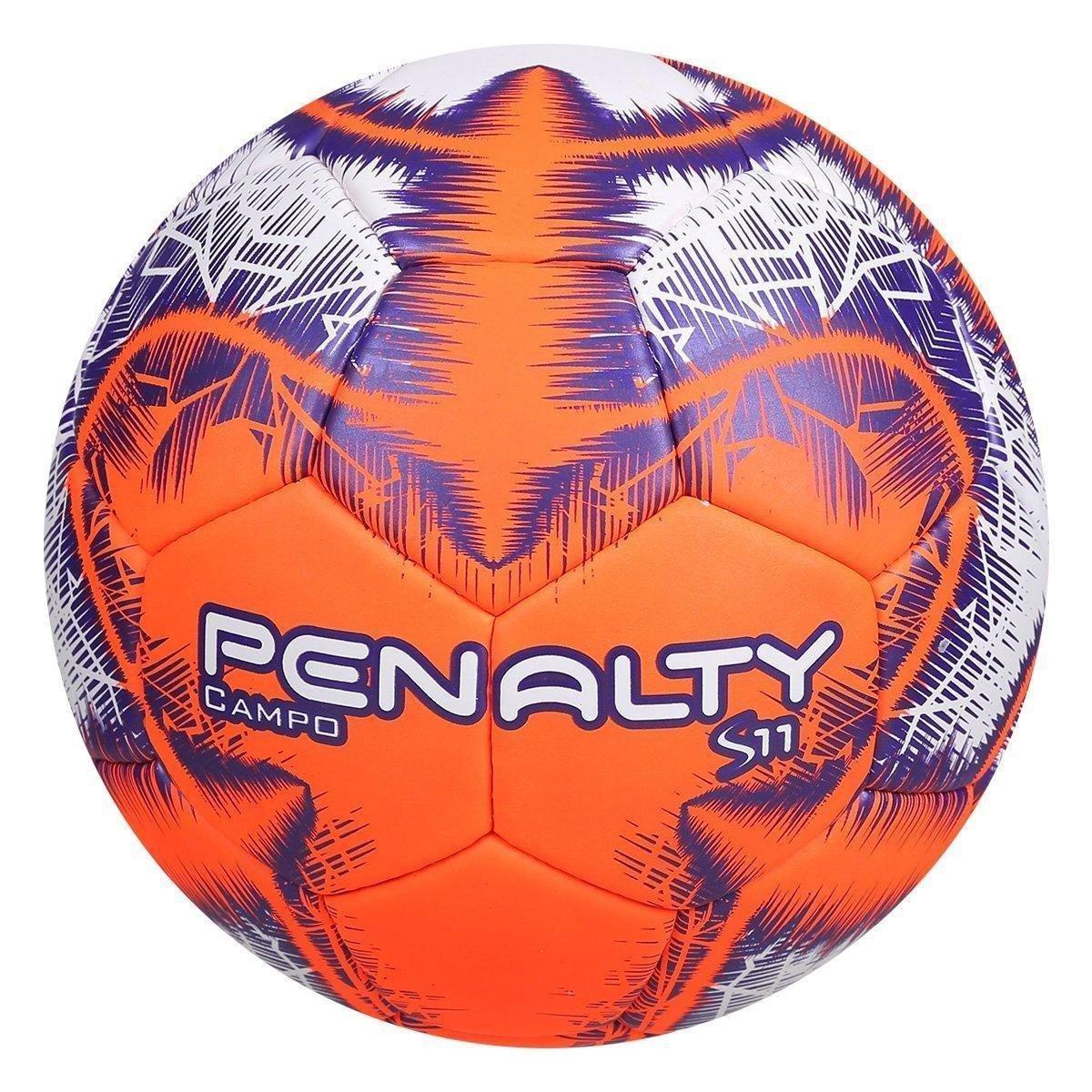 aab0f03806 Bola de Futebol Campo Penalty S11 R4 Ix - Branco e Laranja - Compre ...