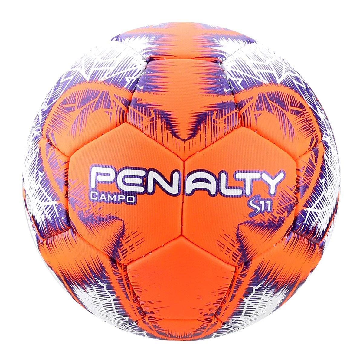 Bola de Futebol Campo Penalty S11 R5 IX - Branco e Laranja - Compre ... dfa7622be2159
