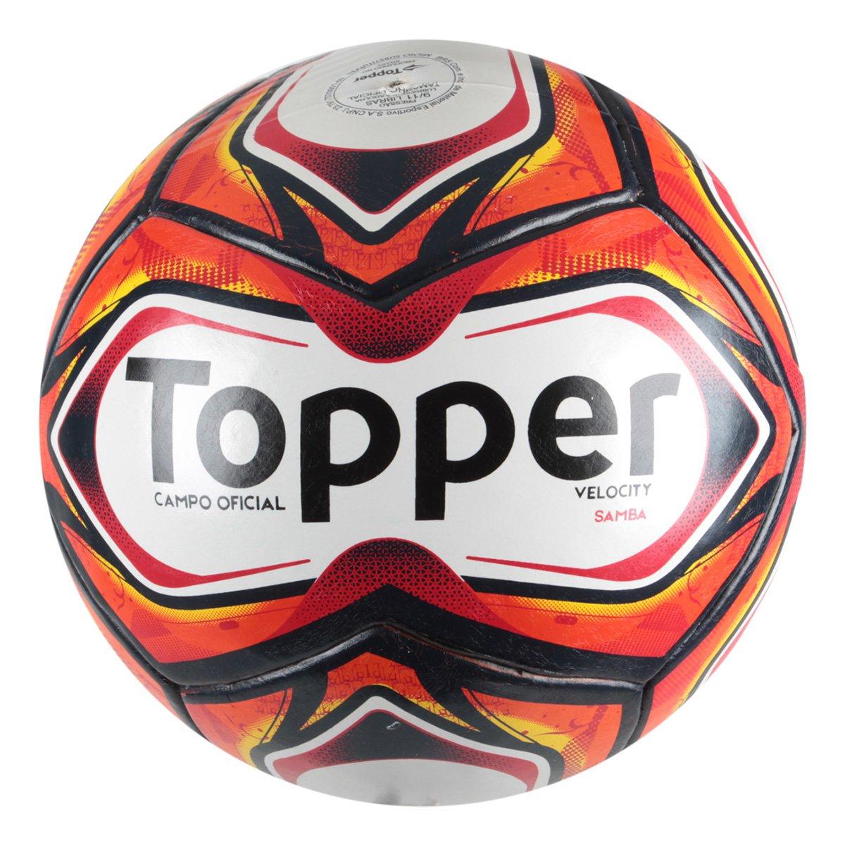 ab0c9a46a5f95 Bola de Futebol Campo Samba TD1 Pro Topper - Compre Agora