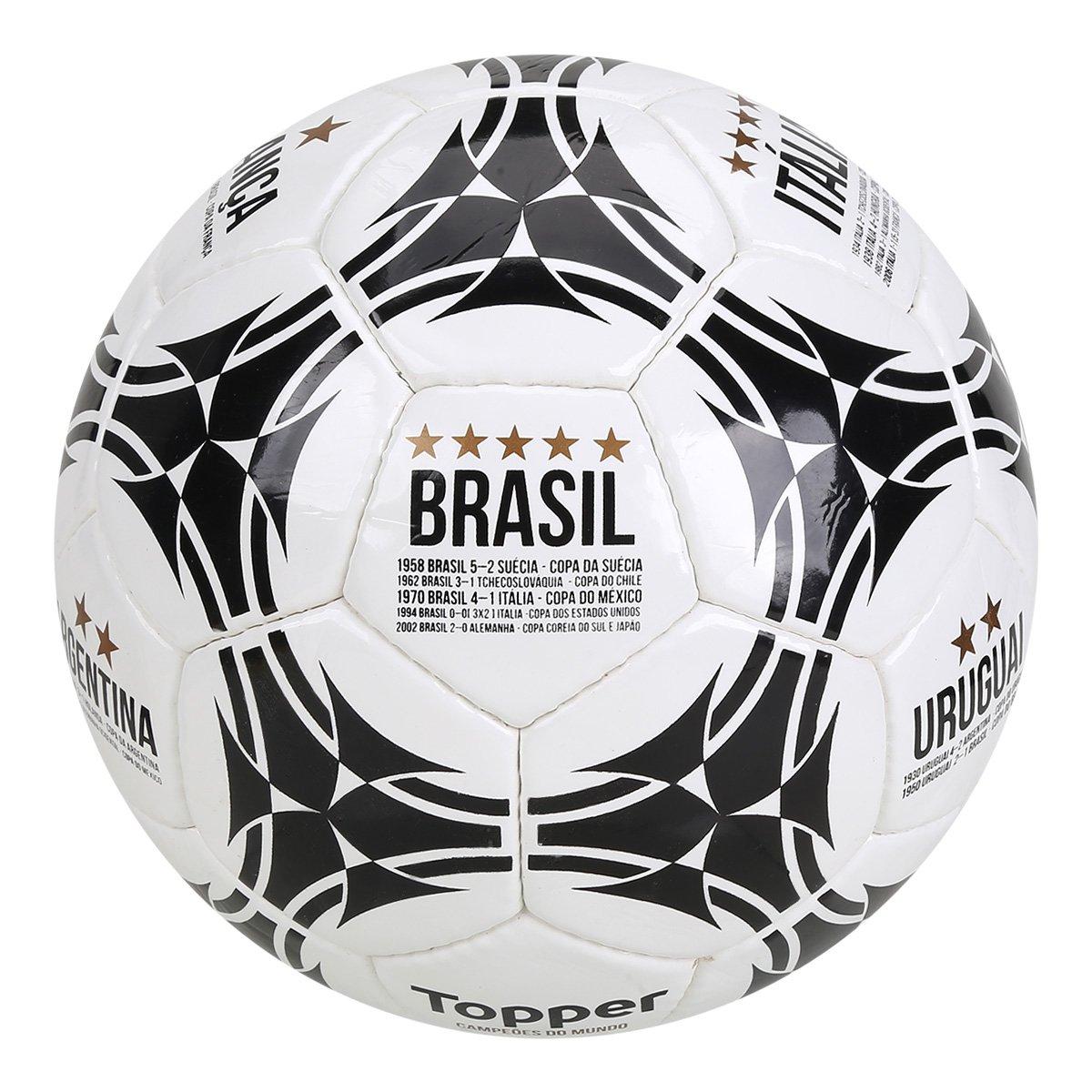 785701c3c139c Bola de Futebol Campo Topper Campeões do Mundo - Branco e Preto - Compre  Agora