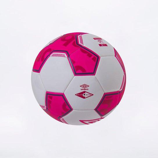 Bola de Futebol Campo Umbro Pivot Ball - Branco+Rosa