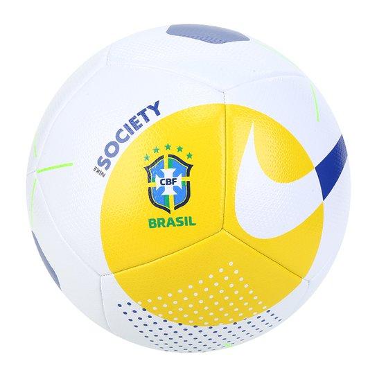 Bola de Futebol Society Nike Brasil CBF - Amarelo+Azul