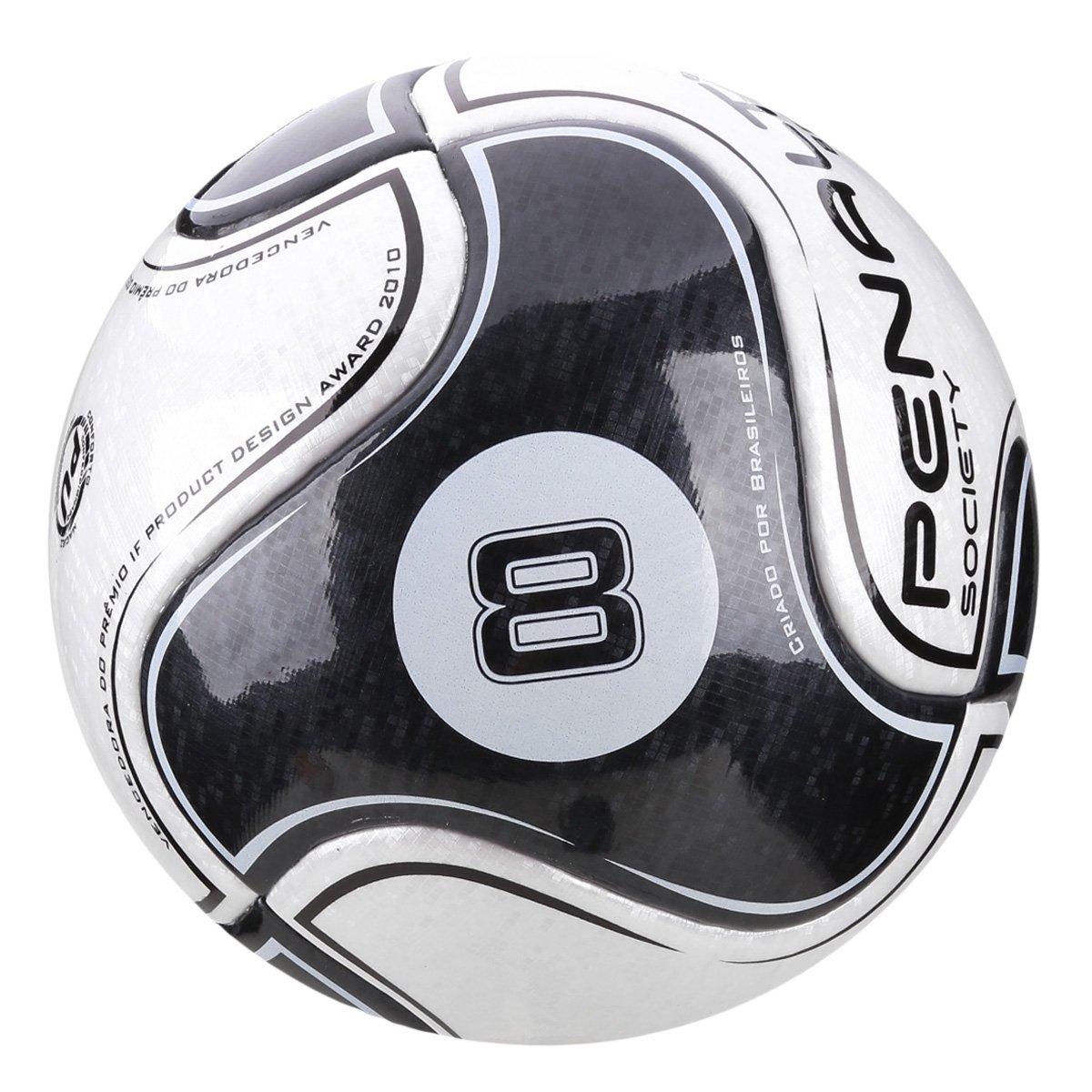 458530ad97b26 Bola de Futebol Society Penalty 8 IX - Branco e Preto - Compre Agora ...