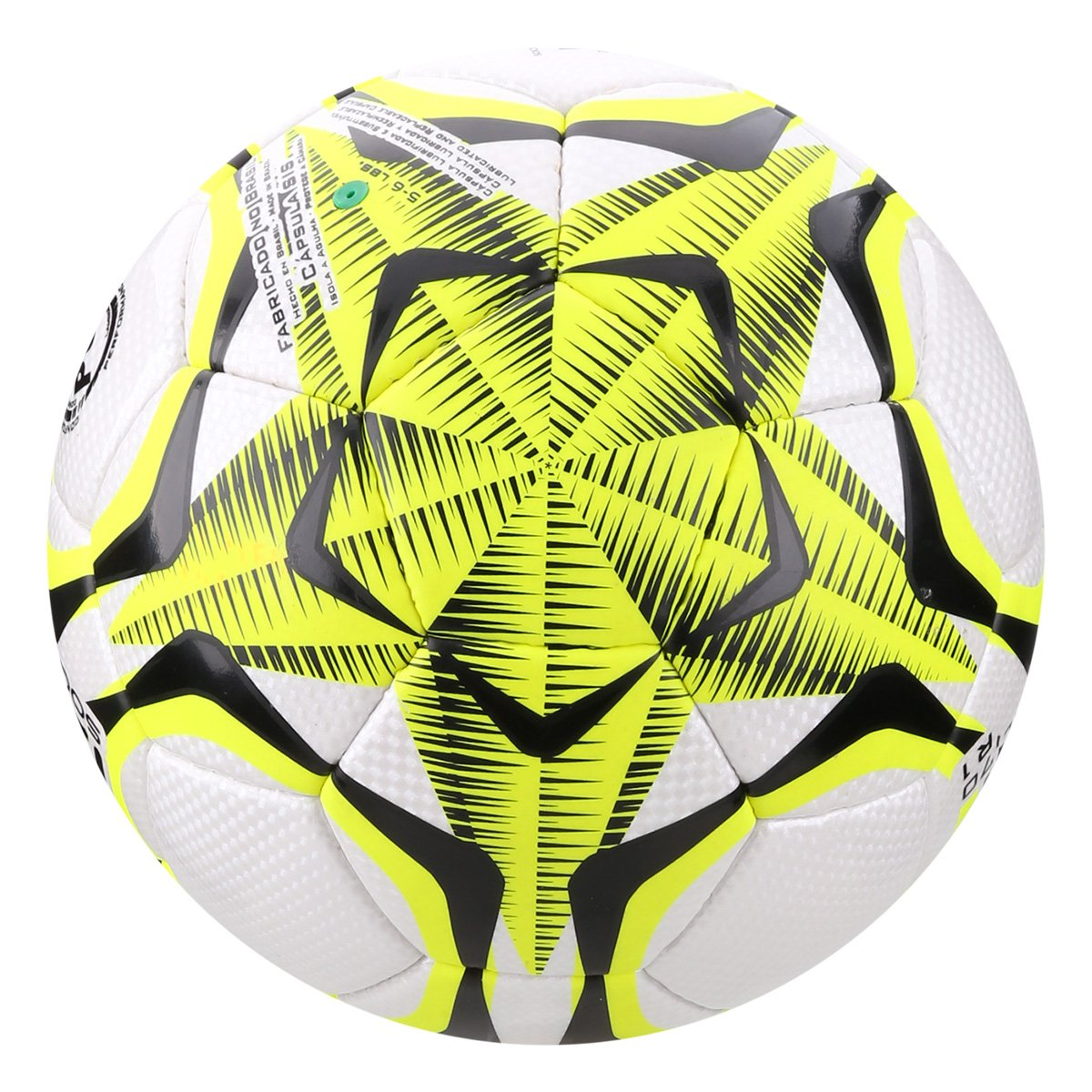 Bola de Futebol Society Penalty Brasil 70 R1 IX - Branco e Amarelo ... d8b5363cf93b1