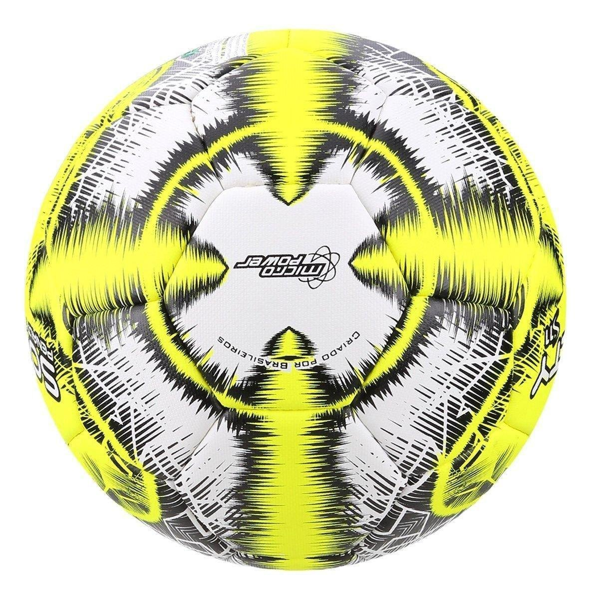Bola de Futebol Society Penalty S11 R5 LX - Branco e Amarelo ... ca1f799471b12