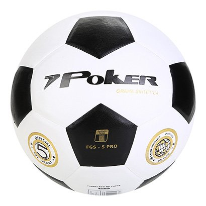 Bola de Futebol Society Poker Vulcanizada - Masculino