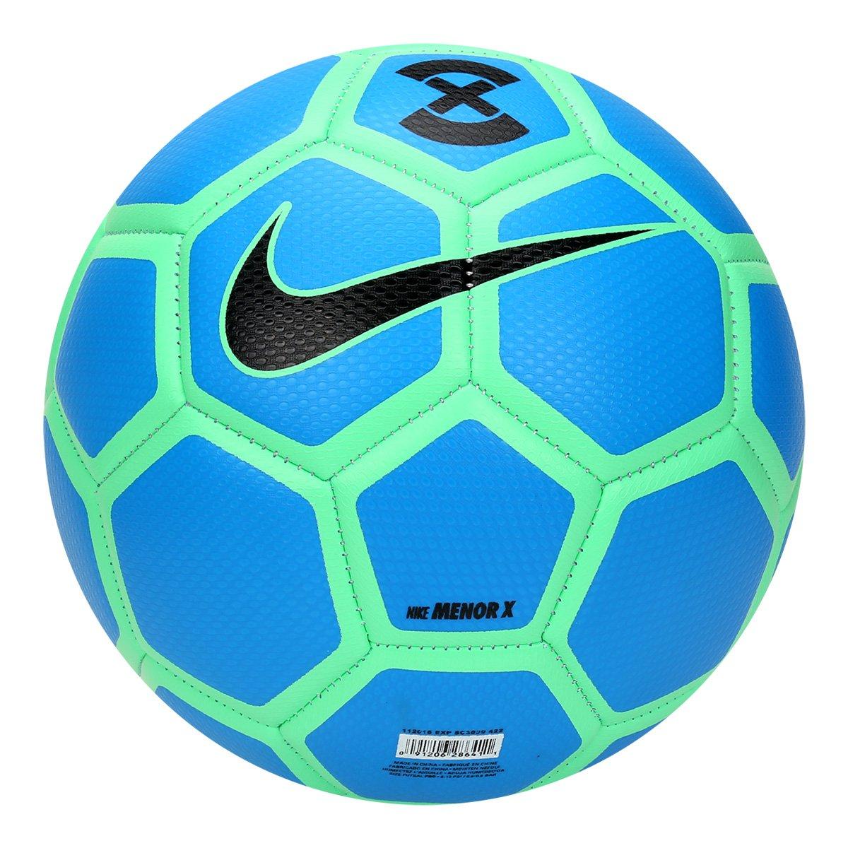 85be896b01 Bola de Futsal Nike FootballX Menor - Azul Piscina e Verde