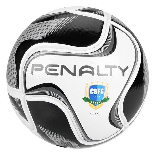 Bola de Futsal Penalty Max 100 All Black - Edição Limitada - Branco+Preto