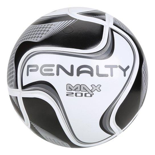 Bola de Futsal Penalty Max 200 All Black - Edição Limitada - Branco+Preto