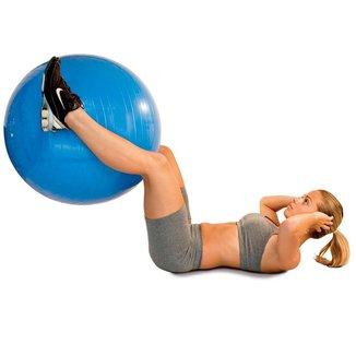 Bola de Ginástica Acte Sports - 65 cm com bomba de Ar - Azul