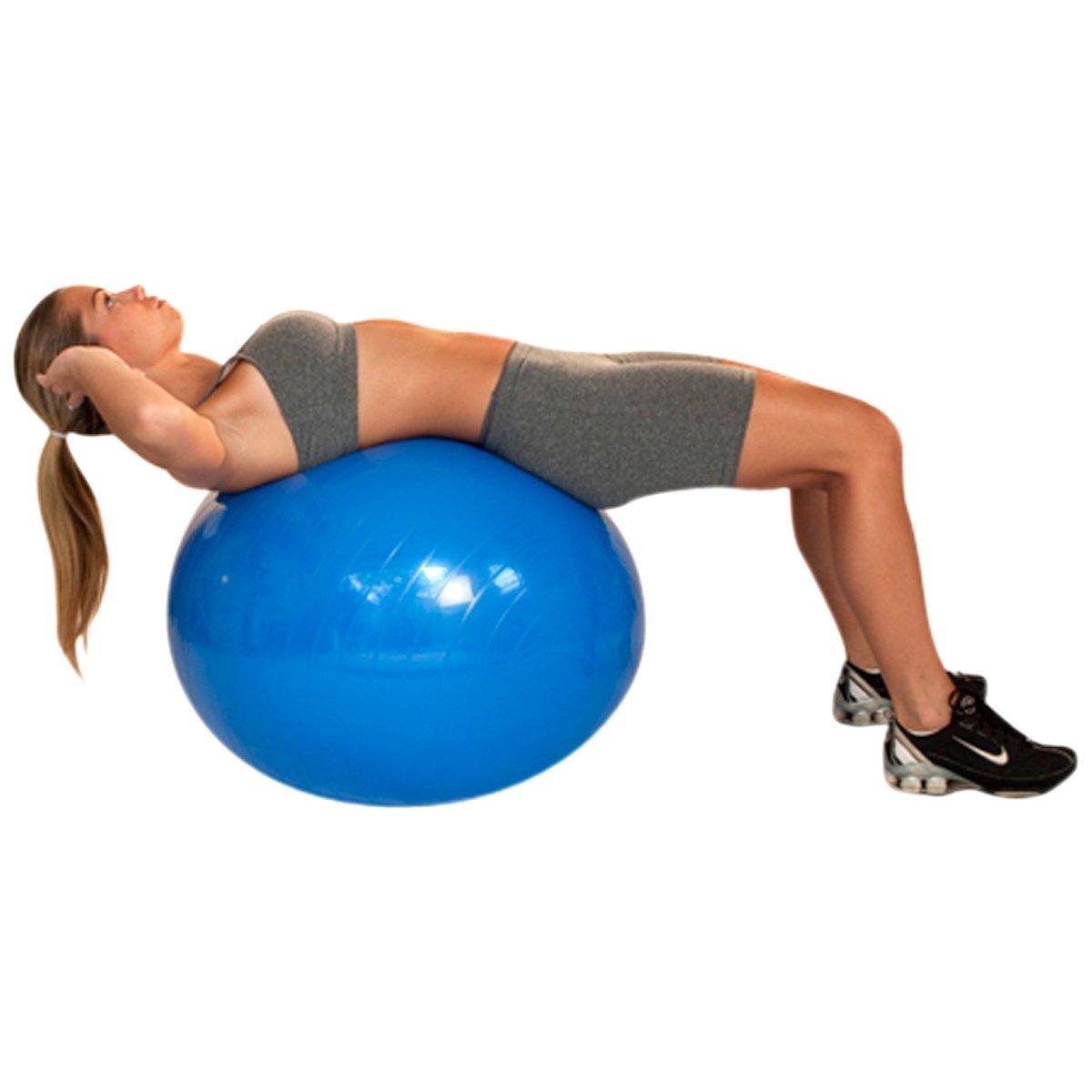 Bola de Ginástica Acte Sports - 65 cm com bomba de Ar - Azul Royal ... 8713ed47e4d05