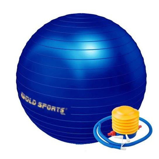 Bola De Ginástica  Gold Sports 55Cm Anti-Explosão - Azul Royal
