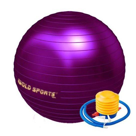 Bola De Ginástica  Gold Sports 55Cm Anti-Explosão - Roxo