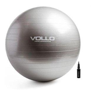 Bola De Ginástica Gym Ball Cinza  55cm - Academia - Vollo