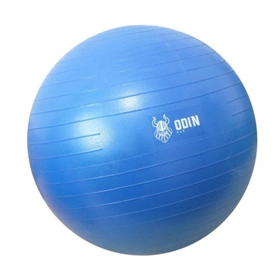 Bola de Ginástica Suíça Yoga Pilates 75cm Odin Fit - Azul