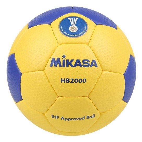 Bola De Handball Mikasa Modelo HB 2000 - Amarelo+Azul