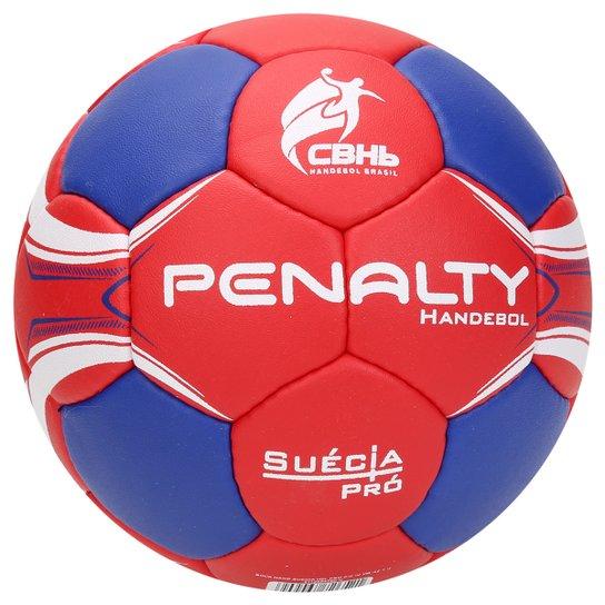 Bola de Handebol Penalty Suécia H2L Pro 4 - Vermelho+Azul