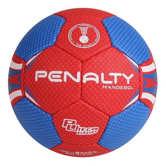 Bola de Handebol Penalty Suécia H3L Ultra Grip 4 - Vermelho+Azul