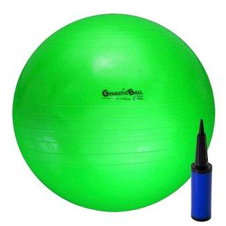 Bola De Pilates Fitball Gynastic Ball 55Cm Com Bomba Carci