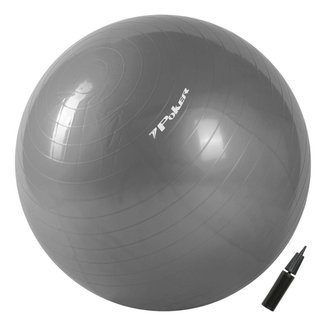 Bola de Pilates Suiça Gym Ball com Bomba de Ar  65cm