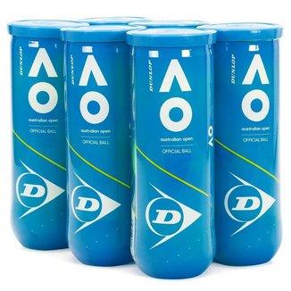 Bola de Tênis Dunlop Australian Open - Pack com 6 tubos
