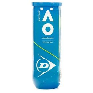 Bola de Tênis Dunlop Australian Open - Tubo com 3 unidades