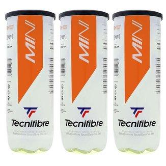 Bola de Tênis e Beach Tennis Tecnifibre Soft Stage 2 Laranja Pack com 03 Tubos