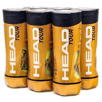 Bola de Tênis Head Tour - Pack com 6 tubos