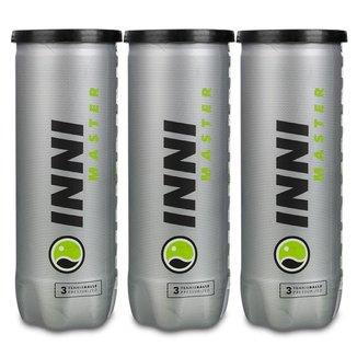 Bola de Tênis Inni Master  Pack com 3 Tubos