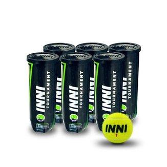 Bola de Tênis Inni Tournament - Pack com 6 tubos