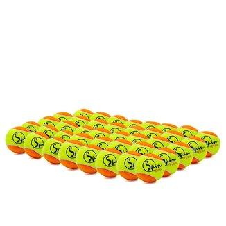 Bola De Tênis Spin Praia 50 Beach Tennis Embalagem Com 40 Bolas Amarela e Laranja