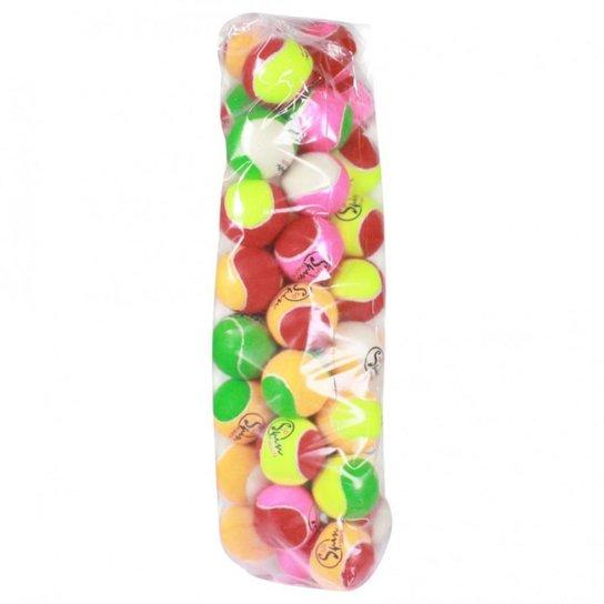 Bola de Tênis Spin Soft 50% Pacote com 40 Bolas - Colorido